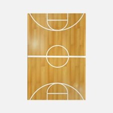 Basketball Court Rectangle Magnet