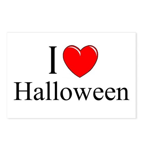 """I Love (Heart) Halloween"" Postcards (Package of 8"