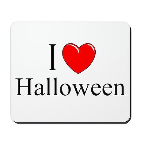 """""""I Love (Heart) Halloween"""" Mousepad"""