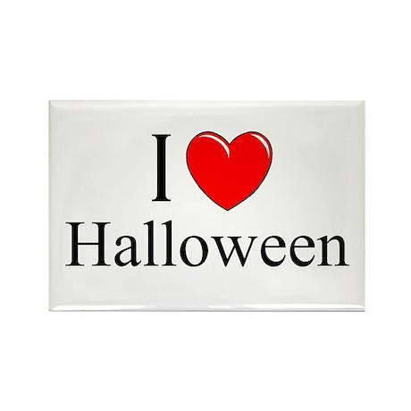 """I Love (Heart) Halloween"" Rectangle Magnet"