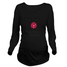DnD Little Sister Long Sleeve Maternity T-Shirt