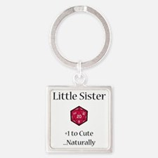 DnD Little Sister Square Keychain