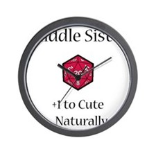 DnD Middle Sister Wall Clock
