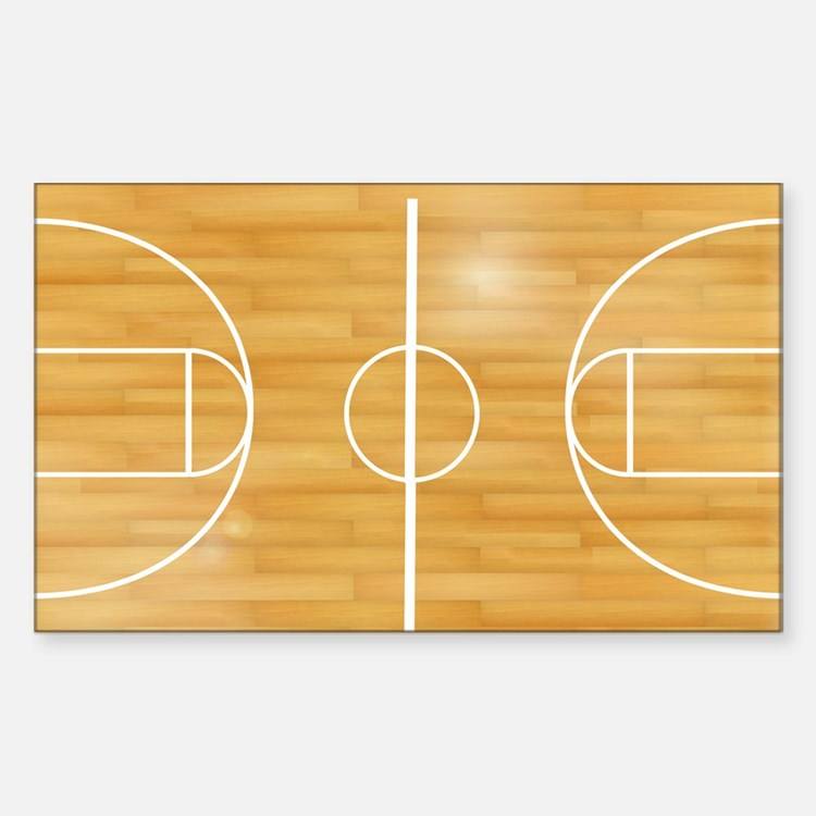 Basketball court floor stickers basketball court floor for Floor stickers