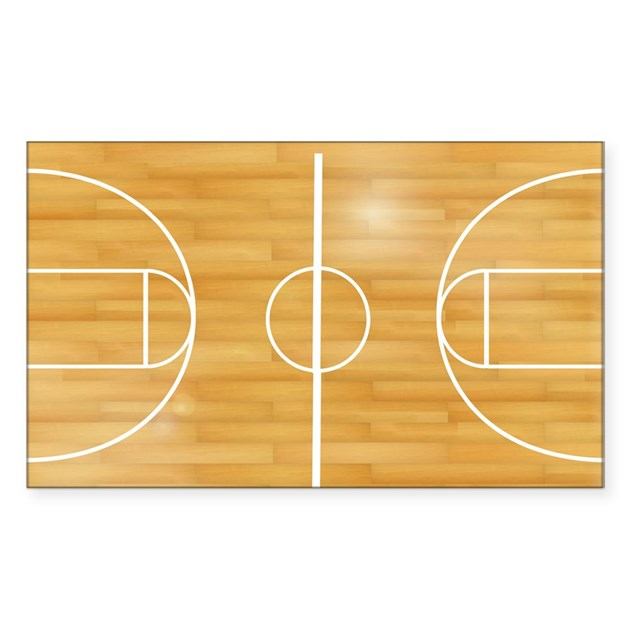 Basketball court sticker rectangle by admin cp18520176 for How wide is a basketball court