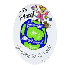 Tytys Planet Color Cover Oval Ornament