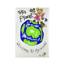 Tytys Planet Color Cover Rectangle Magnet