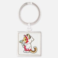 White mage Square Keychain