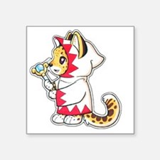 "White mage Square Sticker 3"" x 3"""