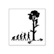 "Tree-Trimmer2 Square Sticker 3"" x 3"""