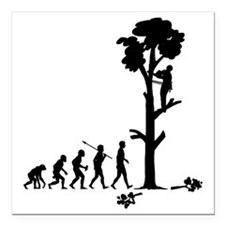 """Tree-Trimmer2 Square Car Magnet 3"""" x 3"""""""