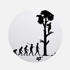 Tree-Trimmer2 Round Ornament