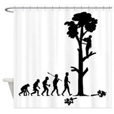 Tree-Trimmer2 Shower Curtain