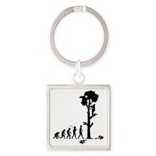 Tree-Trimmer2 Square Keychain