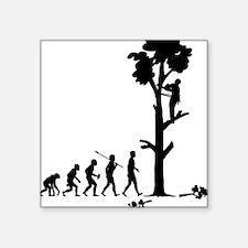 "Tree-Trimmer Square Sticker 3"" x 3"""
