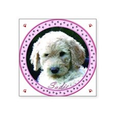 "Personalized Tile Box/Coast Square Sticker 3"" x 3"""