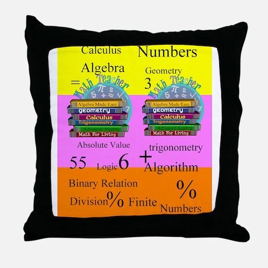 math teacher 8 Throw Pillow