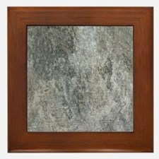 Grunge Concrete Bedding Framed Tile