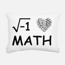 I Love Math Rectangular Canvas Pillow