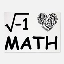 I Love Math 5'x7'Area Rug