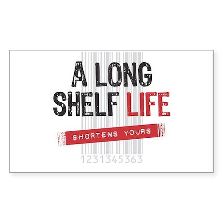 a long shelf life rectangle decal by novelnutrition. Black Bedroom Furniture Sets. Home Design Ideas