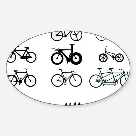 All The bikes Ill ever own Sticker (Oval)