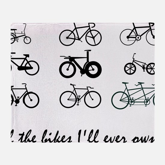 All The bikes Ill ever own Throw Blanket
