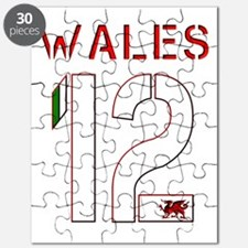 Wales sports number 12 design Puzzle