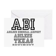 TEXAS - AIRPORT CODES - ABI - ABILEN Greeting Card