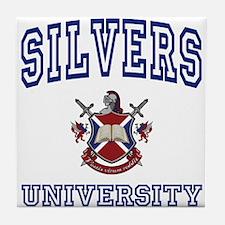 SILVERS University Tile Coaster