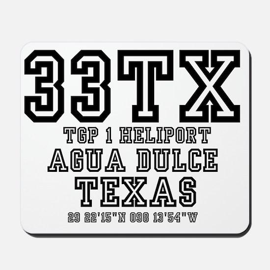 TEXAS - AIRPORT CODES - 33TX - TGP 1 HEL Mousepad