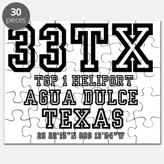 TEXAS - AIRPORT CODES - 33TX - TGP 1 HELIPO Puzzle