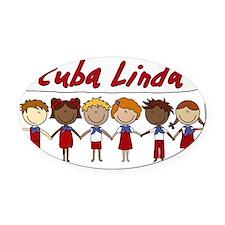 Cuba Linda School Kids Oval Car Magnet