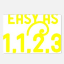 Easy as 1,1,2,3 Postcards (Package of 8)