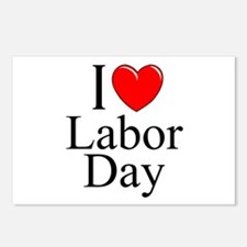 """I Love (Heart) Labor Day"" Postcards (Package of 8"