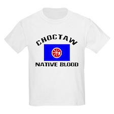 Choctaw Native Blood Kids T-Shirt