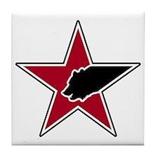 Bear & Star Logo Tile Coaster