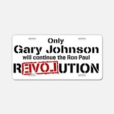 Gary Johnson Aluminum License Plate