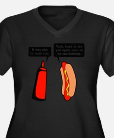 meatKetchup1 Women's Plus Size Dark V-Neck T-Shirt