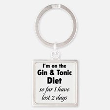 ginTonicDiet1A Square Keychain