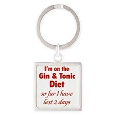 ginTonicDiet1D Square Keychain