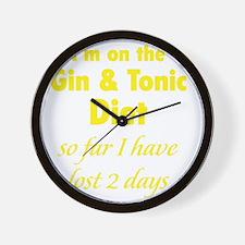 ginTonicDiet1C Wall Clock