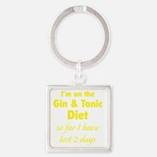 ginTonicDiet1C Square Keychain
