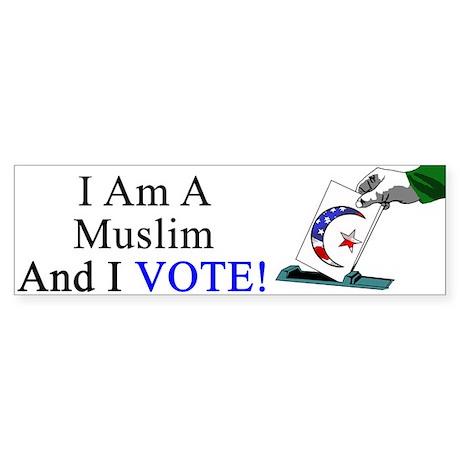 Muslim Vote Bumper Sticker