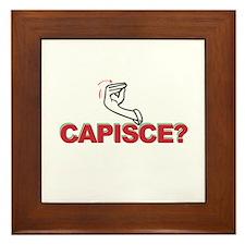 Capisce? Framed Tile