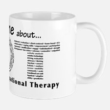 Ask me about OT - B/W Small Small Mug