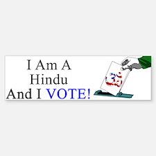 I Vote Hindu Bumper Bumper Sticker