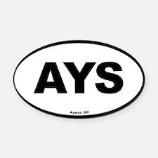 Aynor South Carolina EURO Oval Oval Car Magnet