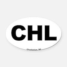 Charleston South Carolina EURO Ova Oval Car Magnet