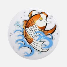 Patterned Koi Round Ornament